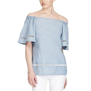 Ralph Lauren Denim Off The Shoulder Top